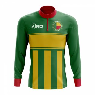 Benin Concept Football Half Zip Midlayer Top (Green-Yellow)