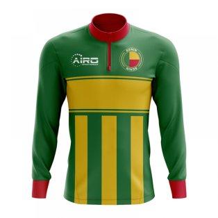 170f1e7b3 Benin Concept Football Half Zip Midlayer Top (Green-Yellow)