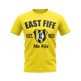 East Fife Established Football T-Shirt (Yellow)