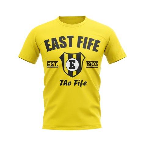 East Fife Established Football T-Shirt (Yellow)