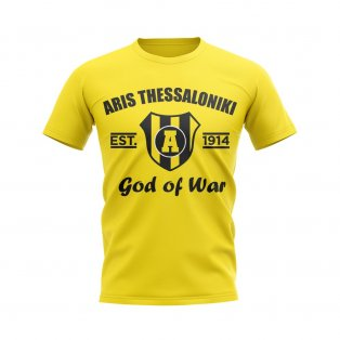 Aris Thessaloniki Established Football T-Shirt (Yellow)