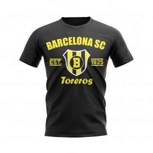 Barcelona Sporting Club Established Football T-Shirt (Black)