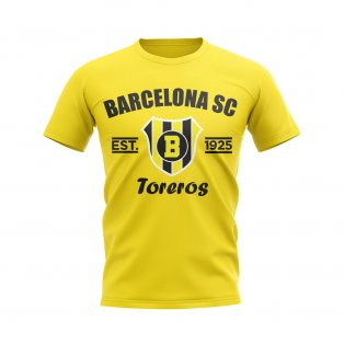 Barcelona Sporting Club Established Football T-Shirt (Yellow)