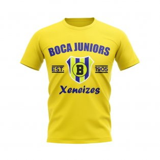 Boca Juniors Established Football T-Shirt (Yellow)