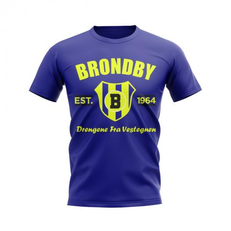 Brondby Established Football T-Shirt (Navy)