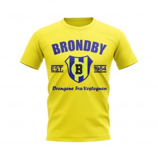 Brondby Established Football T-Shirt (Yellow)