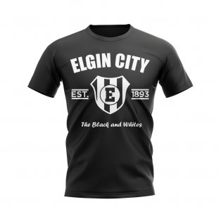 Elgin City Established Football T-Shirt (Black)