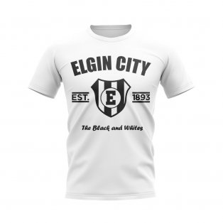 Elgin City Established Football T-Shirt (White)