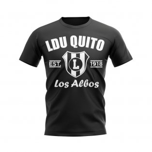 LDU Quito Established Football T-Shirt (Black)