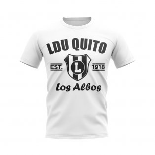LDU Quito Established Football T-Shirt (White)