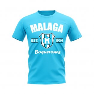 Malaga Established Football T-Shirt (Sky)