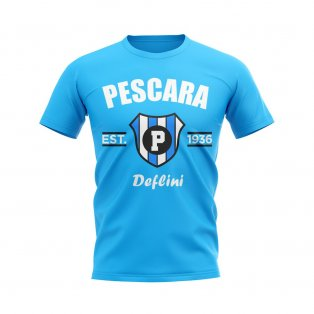 Pescara Established Football T-Shirt (Sky)