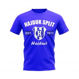 Hajduk Split Established Football T-Shirt (Royal)