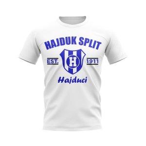 Hajduk Split Established Football T-Shirt (White)