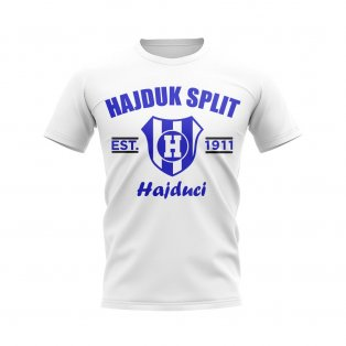 Hajduk Split Established Football T-Shirt (White)