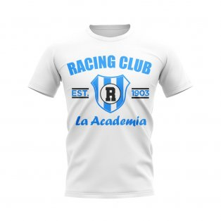 Racing Club Established Football T-Shirt (White)