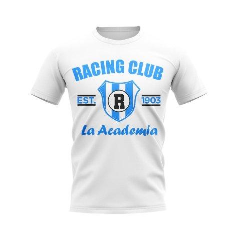 Racing Club Established Football T-Shirt (White)
