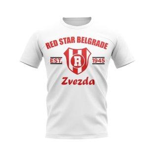 Red Star Belgrade Established Football T-Shirt (White)