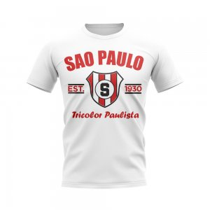 Sao Paolo Established Football T-Shirt (White)