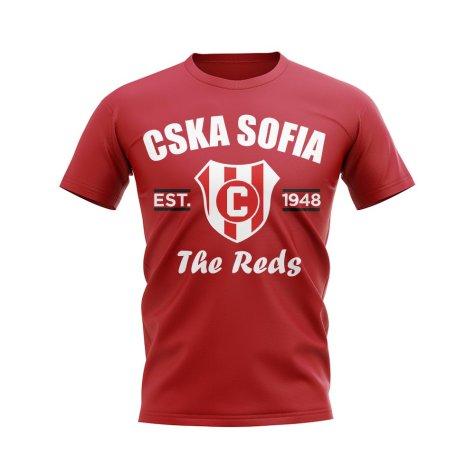 CSKA Sofia Established Football T-Shirt (Red)