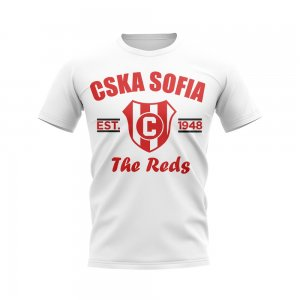 CSKA Sofia Established Football T-Shirt (White)