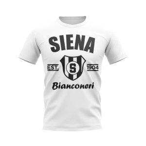 Siena Established Football T-Shirt (White)