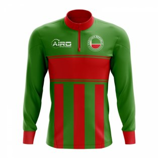 Chechen Republic Concept Football Half Zip Midlayer Top (Green-Red)