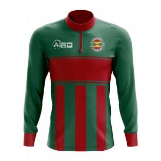 Grenada Concept Football Half Zip Midlayer Top (Green-Red)