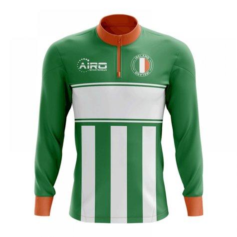 Ireland Concept Football Half Zip Midlayer Top (Green-White)