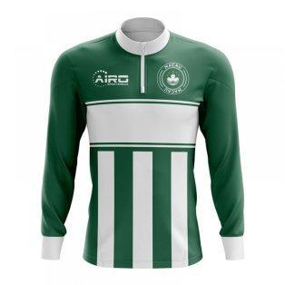 Macau Concept Football Half Zip Midlayer Top (Green-White)