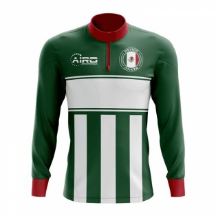 Mexico Concept Football Half Zip Midlayer Top (Green-White)