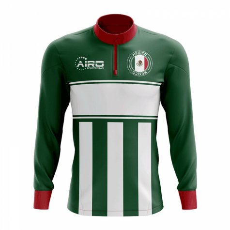 Mexico Concept Football Half Zip Midlayer Top (Green-White)