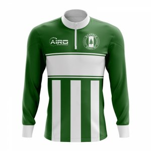 Norfolk Islands Concept Football Half Zip Midlayer Top (Green-White)