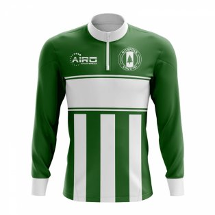 Norfolk Islands Concept Football Half Zip Midlayer Top (Green-White)