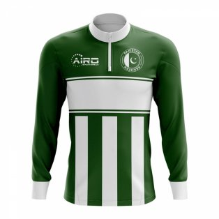 Pakistan Concept Football Half Zip Midlayer Top (Green-White)