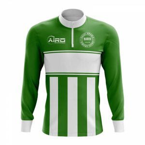 Saudi Arabia Concept Football Half Zip Midlayer Top (Green-White)