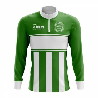 Saudi Arabia Concept Football Half Zip Midlayer Top (Green-White)