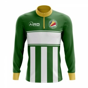Seychelles Concept Football Half Zip Midlayer Top (Green-White)