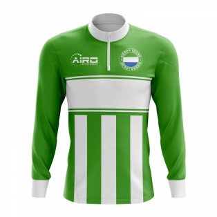 Sierra Leone Concept Football Half Zip Midlayer Top (Green-White)