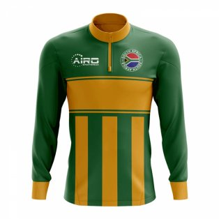 South Africa Concept Football Half Zip Midlayer Top (Green-Orange)