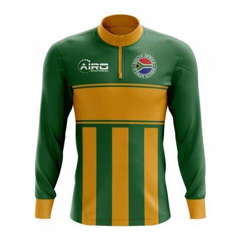 South Africa Concept Football Half Zip Midlayer Top (Green-Orange)