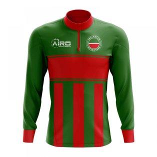 Tatarstan Concept Football Half Zip Midlayer Top (Green-Red)