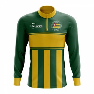 Togo Concept Football Half Zip Midlayer Top (Green-Yellow)