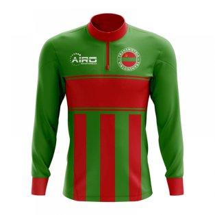 Transnistria Concept Football Half Zip Midlayer Top (Green-Red)