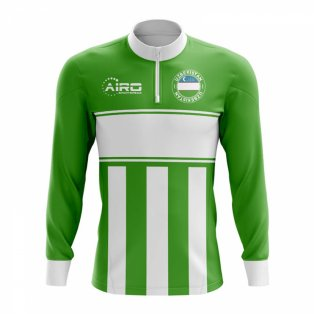 Uzbekistan Concept Football Half Zip Midlayer Top (Green-White)