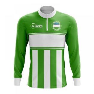 Uzbekistan Concept Football Half Zip Midlayer Top (Green-White)