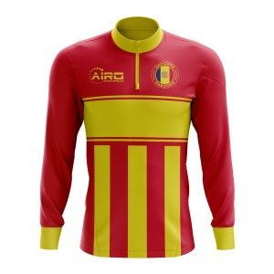 Andorra Concept Football Half Zip Midlayer Top (Red-Yellow)