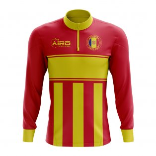 Andorra Concept Football Half Zip Midlayer Top (Red-Yellow)