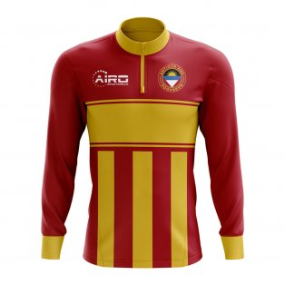Antigua Concept Football Half Zip Midlayer Top (Red-Yellow)