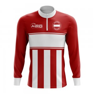 Austria Concept Football Half Zip Midlayer Top (Red-White)